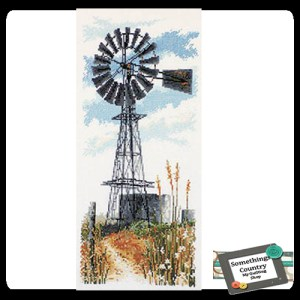 Country Threads Cross Stitch Counted X Stitch Pattern Graph WINDMILL New (CT)