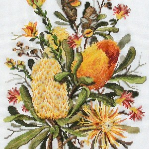 Country Threads Cross Stitch Counted X Stitch Pattern Graph BANKSIAS New (CT)