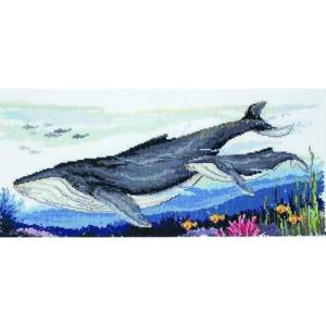 Country Threads Cross Stitch Counted X Stitch Pattern Graph HUMPBACK WHALES New (CT)