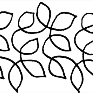 Quilting Full Line Stencil Large Leaf Meander Reusable for Quilts New A4 use Pounce