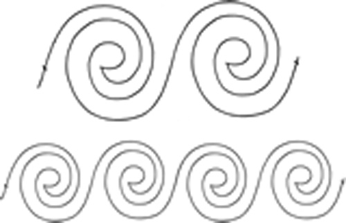 Quilting Full Line Stencil Spiral Border Reusable for