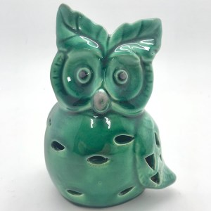 French Country Ornament Emerald Green Owls Leaf Ears Collectable Gift Idea Assort Size New
