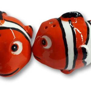 French Country Collectable Novelty Nemo Clown Fish Salt and Pepper Set New