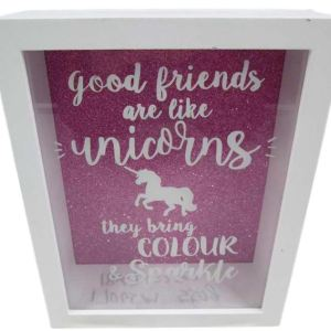 French Country Friends are like Unicorns Savings Money Box Collectable Gift Idea New