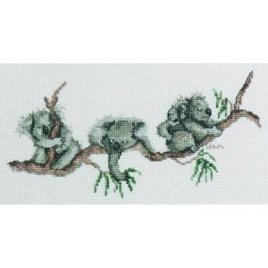 DMC Australian Collection Cross Stitch Kit inc Threads Koalas New 582103 LS Davies