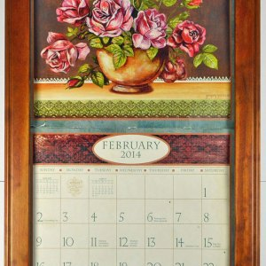2019 Lang / Legacy Calendar Frame Wooden Mahogany Display your Calender New