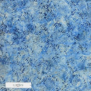 Patchwork Quilting Sewing Fabric Blue Floral Batik 50x55cm FQ New Material