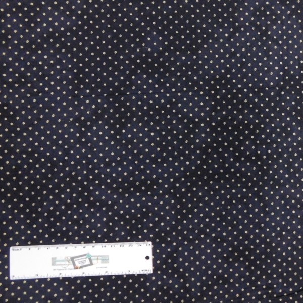 Patchwork Quilting Sewing Fabric Dark Navy & White Stars 50x55cm FQ New