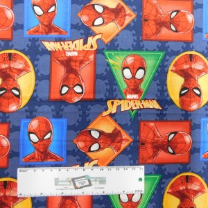 Patchwork Quilting Sewing Fabric Spiderman Allover 50x55cm FQ Cotton New