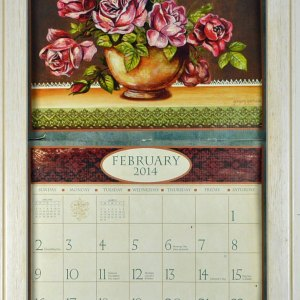 2019 Lang / Legacy Calendar Frame Wooden Whitewash Display your Calender New