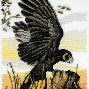 Country Threads Cross Stitch BLACK COCKATOO Pattern New X Stitch FJP-1066 (CT)