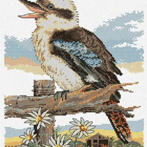 Country Threads Cross Stitch BUSHMAN'S ALARM Pattern New X Stitch FJP-1081(CT)