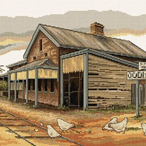 Country Threads Cross Stitch OODNADATTA RAILWAY Pattern New X Stitch FJP-1082 (CT)
