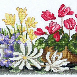 Country Threads Cross Stitch LOTS OF POTS Pattern New X Stitch FJP-2006 (CT)