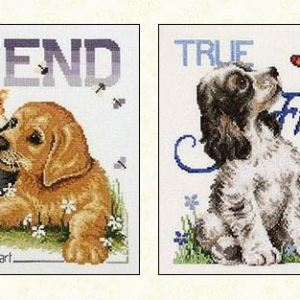 Country Threads Cross Stitch BEST FRIENDS Pattern New X Stitch FJP-107-08 (CT)