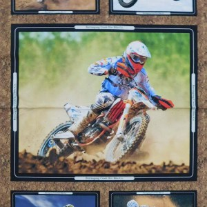 Patchwork Quilting Sewing Fabric Dirt Bikes Mixed Panel 60x110cm New Material