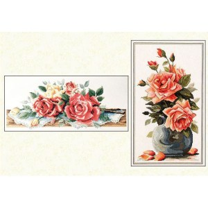 Country Threads Cross Stitch FOREVER ROSES Pattern New X Stitch FJP-2002-09 (CT)