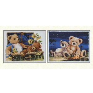 Country Threads Cross Stitch TEDDY BEARS Pattern New X Stitch FJP-3005-06 (CT)