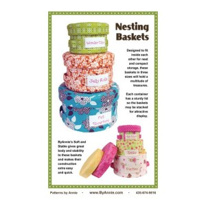 Quilting Sewing Patchwork By Annie Nesting Baskets Pattern New