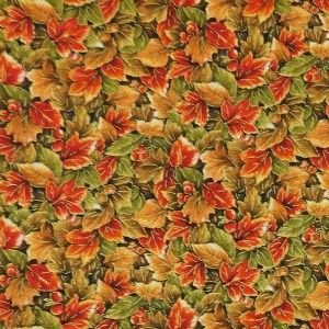 Quilting Patchwork Sewing Fabric AUTUMN LEAVES 50x55cm FQ Material New