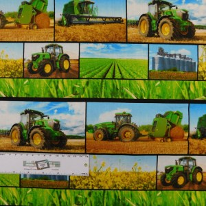 Patchwork Quilting Sewing Fabric JOHN DEERE BORDER Panel 38x110cm New