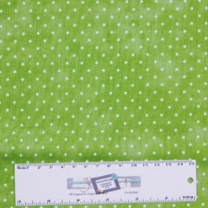 Patchwork Quilting Sewing Fabric GREEN SMALL SPOTS DOTS 50x55cm FQ New