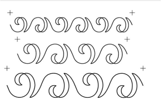 Quilting Full Line Stencil SWIRL SASHING BORDER Reusable