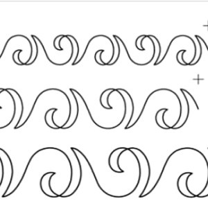 Quilting Full Line Stencil SWIRL SASHING BORDER Reusable for Quilts use Pounce A3 New