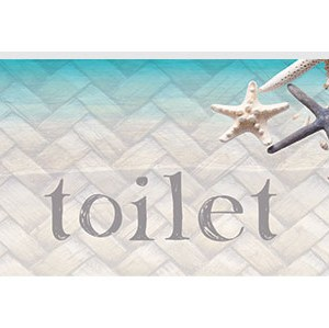 French Country Inspired Wall Art Plaque ISLAND ESCAPE BEACH Toilet Wooden Sign New