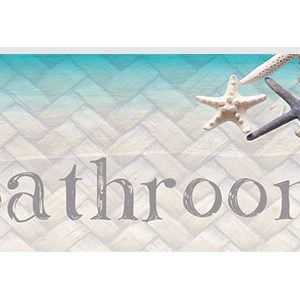 French Country Inspired Wall Art Plaque ISLAND ESCAPE BEACH Bathroom Wooden Sign New