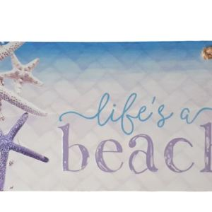 French Country Inspired Art ISLAND ESCAPE LIFES A BEACH Wooden Sign New