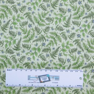 Patchwork Quilting Sewing Fabric ROAM SWEET HOME LEAVES 50x55cm FQ New