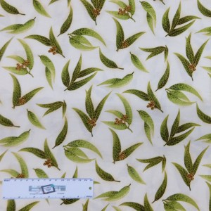 Patchwork Quilting Sewing Fabric UNDER AUSSIE SUN GUM LEAVES 50x55cm FQ New