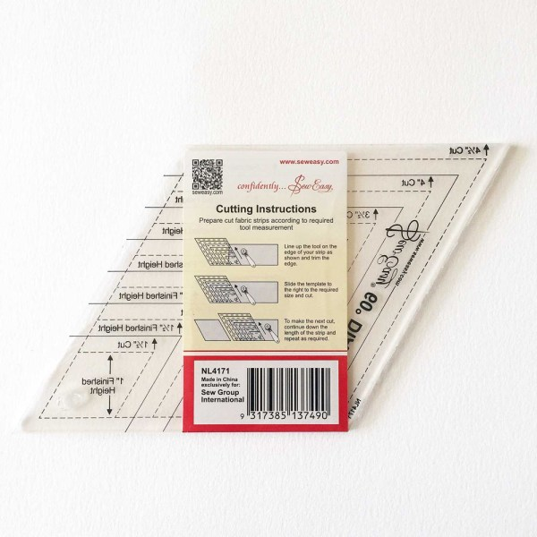 Quilting Patchwork Sewing Template 60 degree DIAMOND 1.5-4.5 Inch New