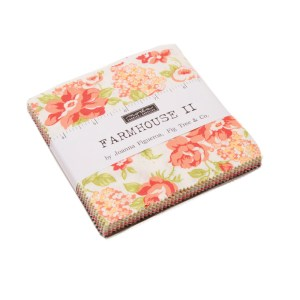 Quilting Patchwork Fabric Charm Pack Moda FARMHOUSE II 5 Inch Squares New