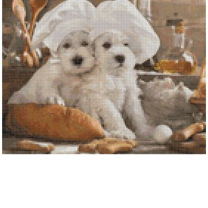 Cross Stitch Pattern BILLY BULLDOG Dogs New X Stitch Gwen Street Designs New