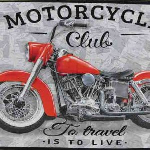 Patchwork Quilting Sewing Fabric MOTORCYCLE CLUB MOTORBIKE Panel 60x110cm New