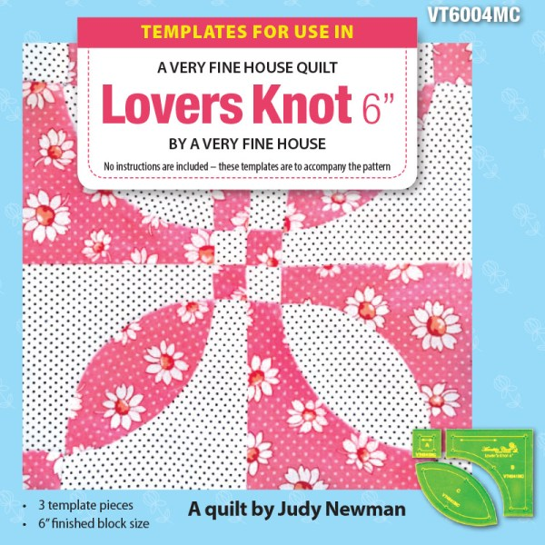 """Quilting Patchwork Sewing Template LOVERS KNOT Set 3 and 6"""" Block Matilda's Own New"""