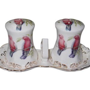 French Country Chic Collectable Kitchen Salt and Pepper Set GALAH New Giftboxed