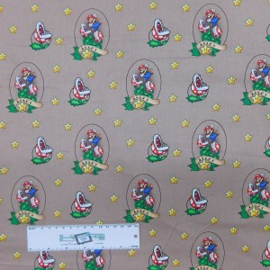 Patchwork Quilting Sewing Fabric SUPER MARIO LUCKY 50x55cm FQ New