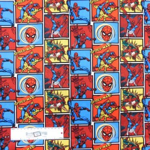 Patchwork Quilting Sewing Fabric MARVEL SPIDERMAN 50x55cm FQ New