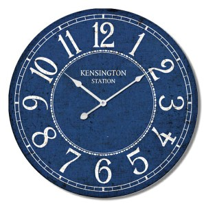 Clock Country Vintage Inspired Wall Hanging KENSINGTON STATION Clock 60cm New