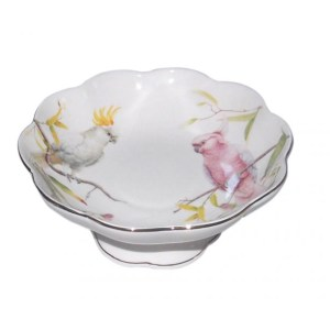 French Country Chic Kitchen Elegant Serving Fruit Bowl AUSTRALIAN COCKATOO New