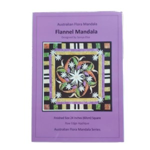 Quilting Sewing Australian Flora Mandala Topper Pattern FLANNEL FLOWERS New