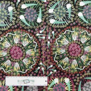 Patchwork Quilting Sewing Fabric ABORIGINAL BUSH BANANA 50x55cm FQ New