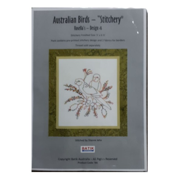 Sewing Embroidery Crafting Stitchery Kit ROSELLAS 4 Includes Fabric New