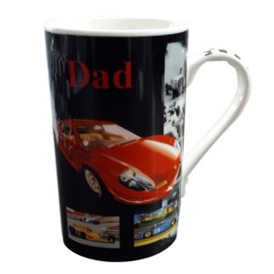 French Country Chic Kitchen Coffee Mug Cup Dad Black Racing Car China New