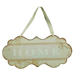 Country Printed Quality Metal Sign with Hanger CREAM HOME Plaque New