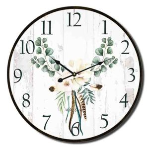 Clocks Country Vintage Inspired Wall BOHO LUXE MAGNOLIA Clock 34cm New