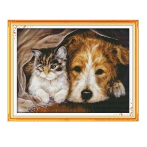 Cross Stitch Kit STAY TOGETHER X Stitch Joy Sunday Designs Incl Threads New